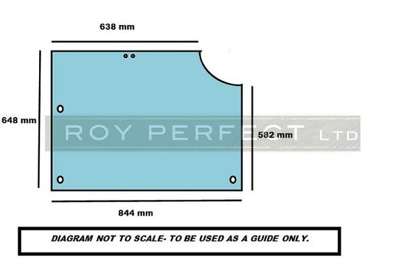 Case 4200 XL Series Rear Glass - Roy Perfect LTD