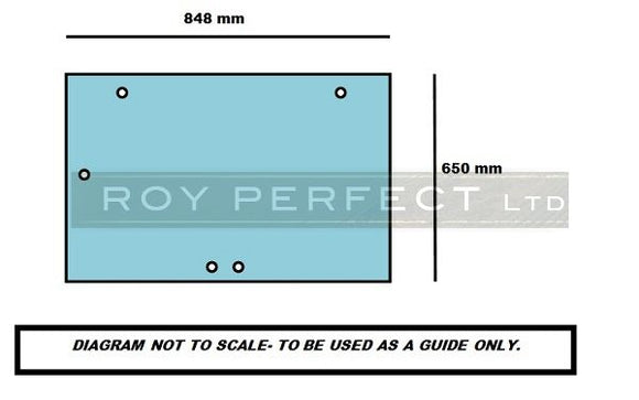 Case All XL (Pre 4200 Series) Rear Glass - Roy Perfect LTD