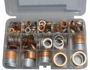 Assorted Copper & Aluminium Washer Pack 2 - Roy Perfect LTD
