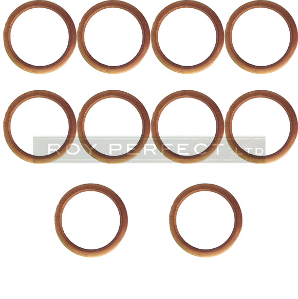 Copper Washer Set of 10 (17 x 21 x 1.5) - Roy Perfect LTD