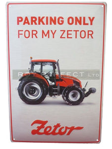 Zetor Tractor Plaque Sign - Roy Perfect LTD