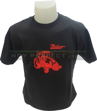 Black Zetor Tractor Tshirt - Roy Perfect LTD