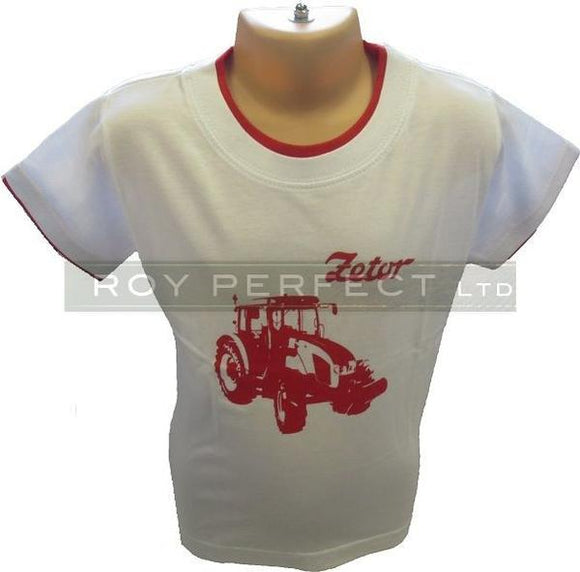 Children's White Zetor Tractor Tshirt - Roy Perfect LTD