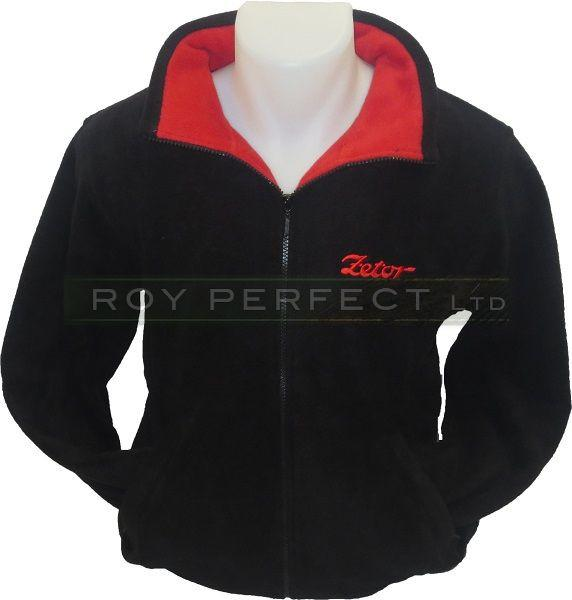 Zetor Tractor Fleece Jacket Coat Black - Roy Perfect LTD