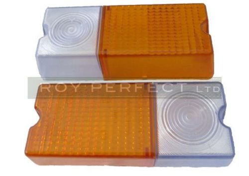 Zetor Front Side Indicator Light Lens x 2 - Roy Perfect LTD
