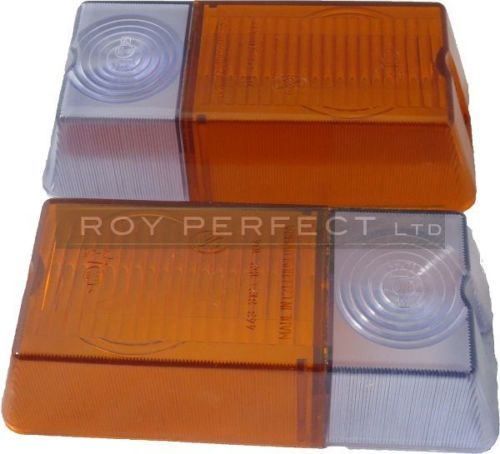 Zetor Old Type Front Indicator Light Lens x2 - Roy Perfect LTD