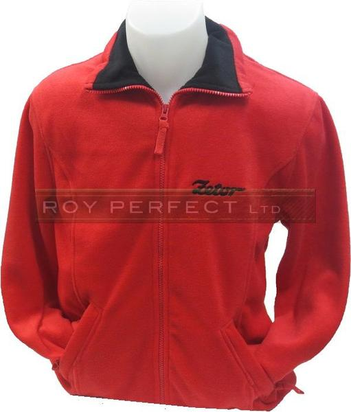 Zetor Tractor Red Fleece Jacket Coat - Roy Perfect LTD