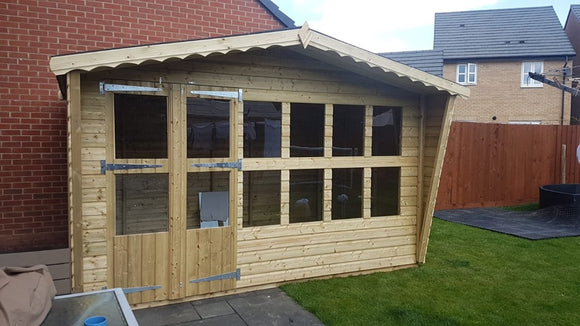 12x8 19mm tanalised summerhouse