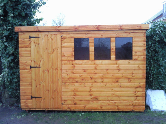 10x8 Pent Shed