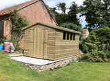 12x8 Tanalised Apex Shed