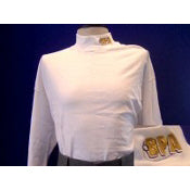 BPA White Moisture Management Loose Fit Mock Turtleneck