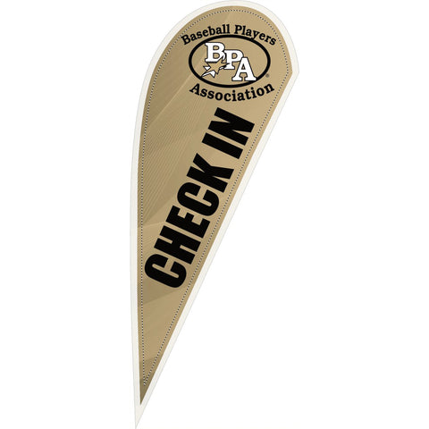 BPA Check In 10 ft Tear Drop Flag