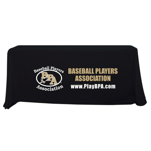 BPA 6 ft Black Throw Table Cloth