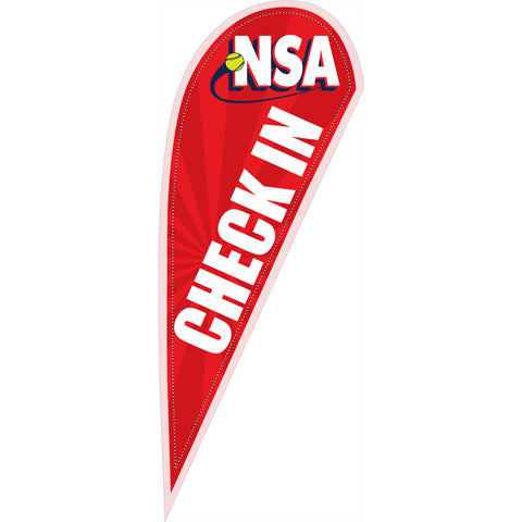 NSA Check In 10 ft Tear Drop Flag