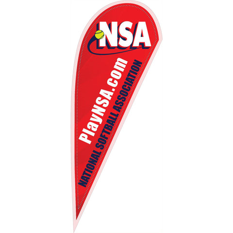 NSA Logo 10 ft Red Tear Drop Flag