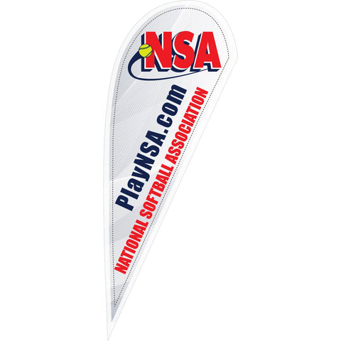 NSA Logo 10 ft White Tear Drop Flag