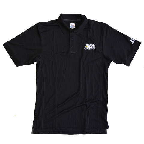 NSA Black Polo Shirt - Red