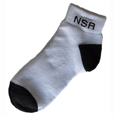 NSA White Ankle Socks