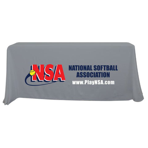 NSA 6 ft Grey Throw Table Cloth