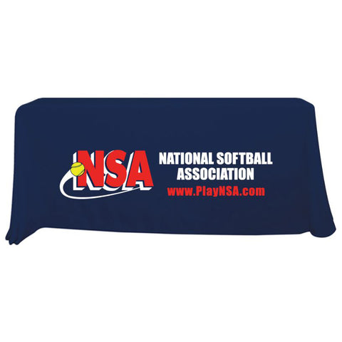NSA 6 ft Navy Throw Table Cloth