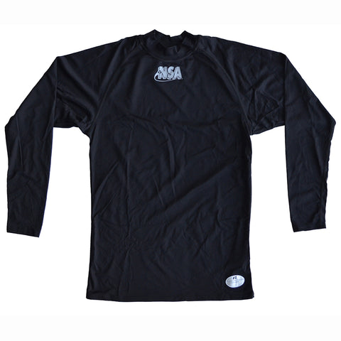 NSA Black Moisture Management Mock Turtleneck