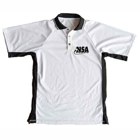 NSA White Umpire Shirt - Large Cut