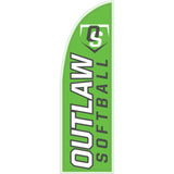 Outlaw Softball Logo 10 ft Straight Flag