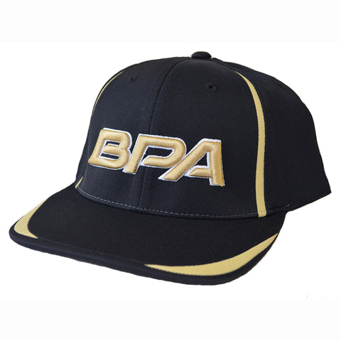 BPA Flex Fit Hat - 472F Black / Vegas Gold