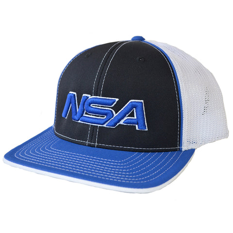 NSA Flex Fit Mesh Hat - 404M Black /  Royal