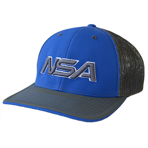 NSA Flex Fit Mesh Hat - 404M Graphite / Royal