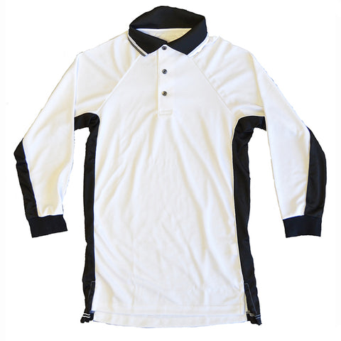 NSA White Long Sleeve Umpire Shirt