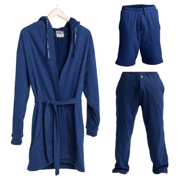 Ultimate Combo - Luxury Men's Bathrobe, Shorts & Pants