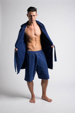 Luxury Men's Bathrobe & Shorts Combo