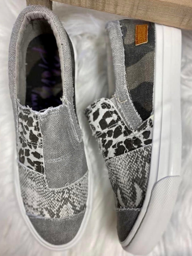Smoke Animal Print Blowfish Maddox Sneaker