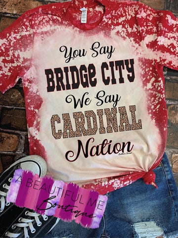 Bleached Cardinal Nation Tee