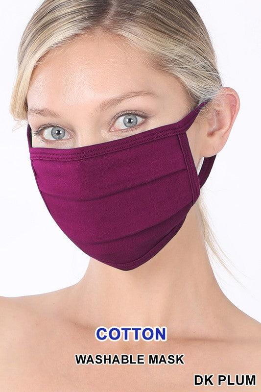 Adults Plum Face Mask