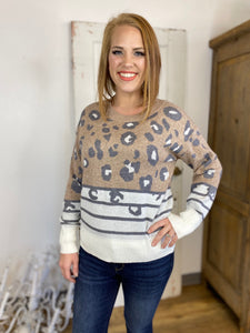Spots & Stripes Leopard Comfy Sweater
