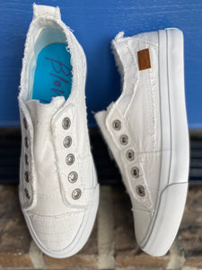 White Smoked Blowfish Sneakers
