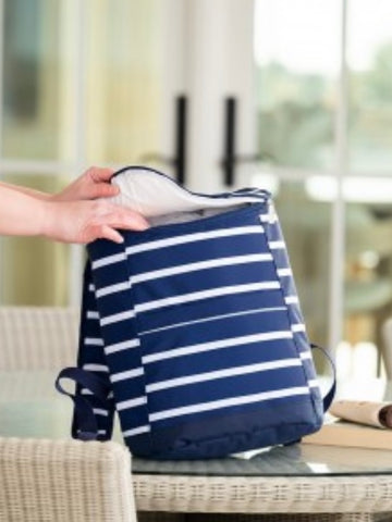 Navy Stripe Cooler Backpack     **Must choose shipping**