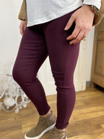 Prune Skinny Leg Teacher Pants (4P-14P)