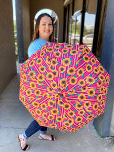 Pink Sunflower Umbrella - Arrives in approx 5 days
