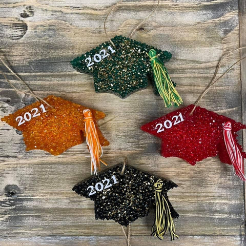 2021 Graduation Cap Car Freshie (Men's Scented) - PRE ORDER (Arrives in approx 4 weeks)