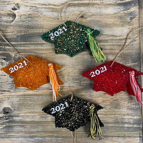2021 Graduation Cap Car Freshie (Women's Scented) - PRE ORDER (Arrives in approx 4 weeks)