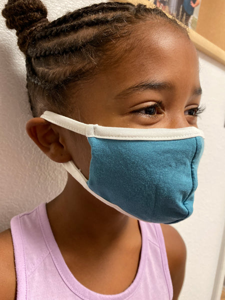 Kids Dusty Blue Face Mask