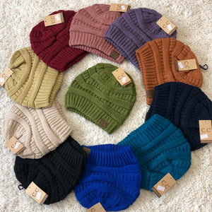 Solid CC Beanie (11 colors) - No Ponytail