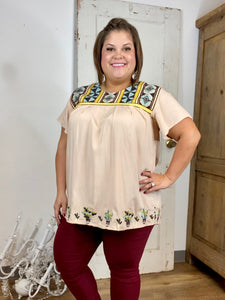 Cream Embroidered Cheyenne Blouse