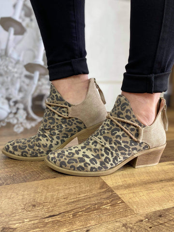 Leopard Spartan Ankle Booties