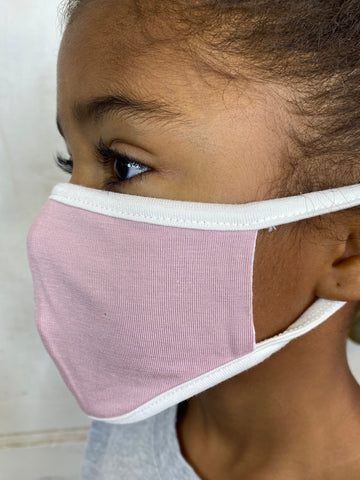 Kids Dusty Pink Face Mask