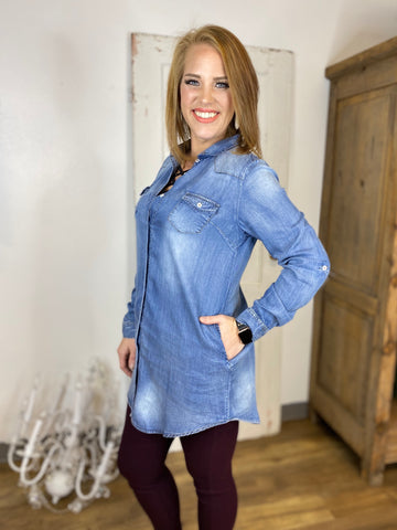 Denim Tunic Blouse