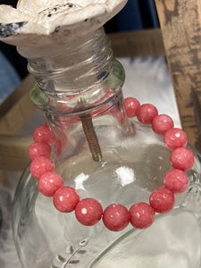 Grape Fruit Pink Marble Bracelet